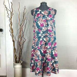 🍂H&M Tropical Floral Skater Flowy A Line Dress